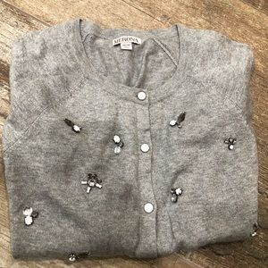 Merona   gray rhinestone cardigan